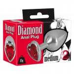 Бът плъг Анално Бижу Сърце Diamond Anal Butt Plug Размер Medium