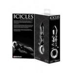 Стъклен анален разширител Black Ice Icicles Glass Massager