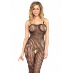 Дамско Боди Leg Avenue Seamless Crochet Spaghetti Bodystocking