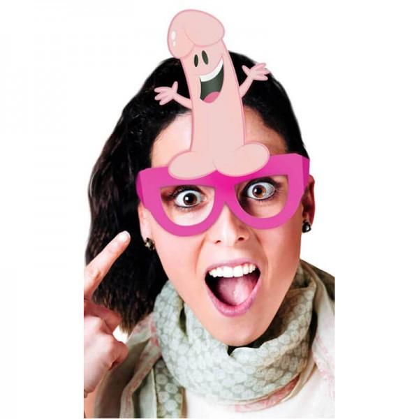 Аксесоари за моминско парти - очила с пенис 8бр.