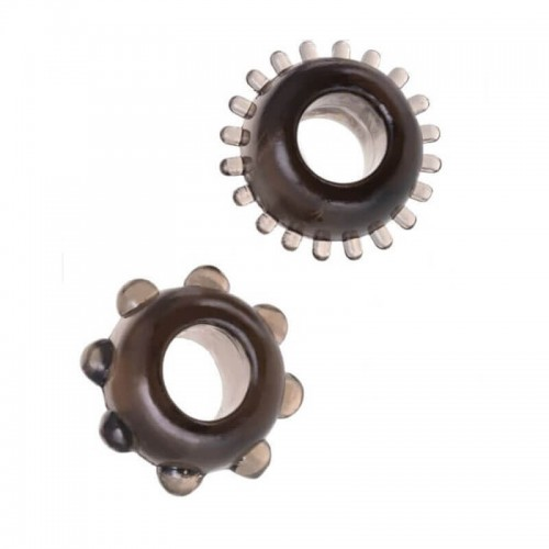 2 броя Synergy Tickler Cock Rings пенис пръстени за задържане на ерекцията черен цвят