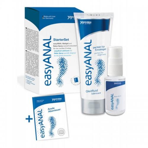 Комплект за Анален секс Отпускащ спрей и Лубрикант easyANAL Lubricant and Relax Spray