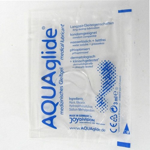 Лубрикант на водна основа AQUAglide JOYdivision 3мл саше за еднократна употреба със секс играчки и вибратори