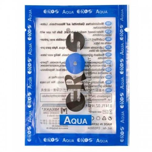 Лубрикант на водна основа EROS AQUA 4мл саше за еднократна употреба за секс играчки