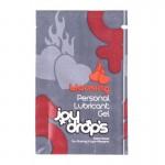 5мл саше лубрикант гел със загряващ ефект Joydrops Warming Personal Lubricant Gel  5ml за секс играчки