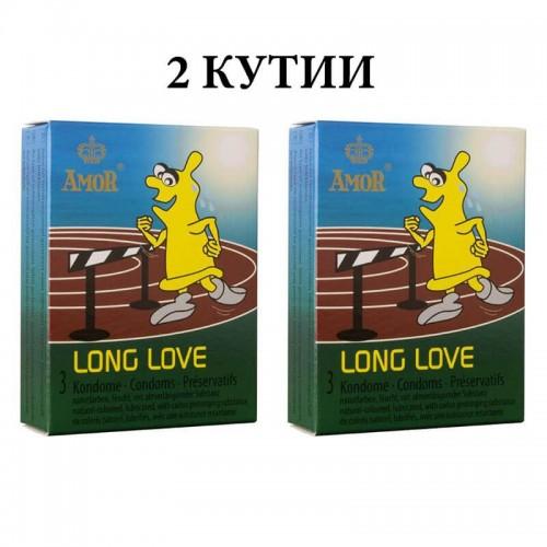 2 кутии презервативи Amor Long Love със задържащ ефект
