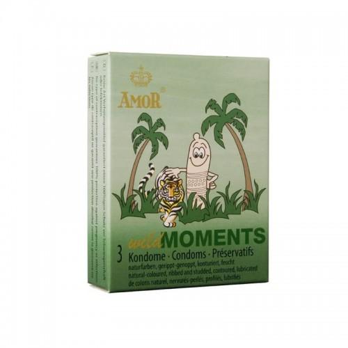 Презервативи с релеф AMOR Wild Moments