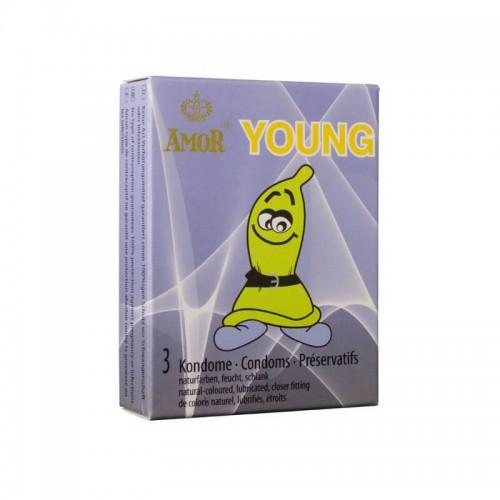 Презервативи за Малък Пенис AMOR Young 3бр.