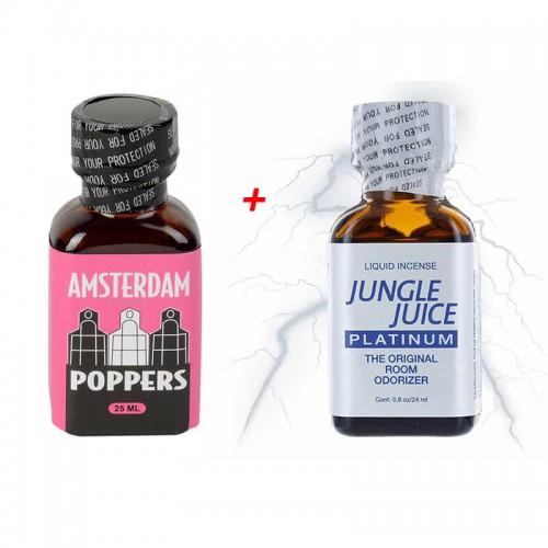 Попърс Амстердам  25мл + Poppers Jungle Juice 25ml