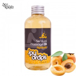 Масло за еротичен масаж с аромат на Кайсия JoyDrops 250мл