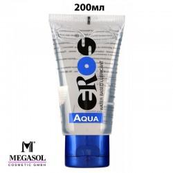 Лубрикант 200мл EROS AQUA на водна основа