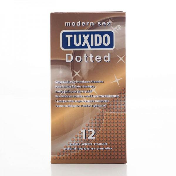 12бр. Релефни презервативи Tuxido Dotted  за допълнитена стимулация на жената