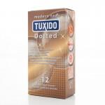 Релефни презервативи Tuxido Dotted 12бр.  за допълнитена стимулация на жената