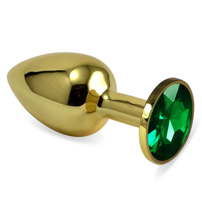 Анален разширител златист метален бът плъг Gold Rose Bud S