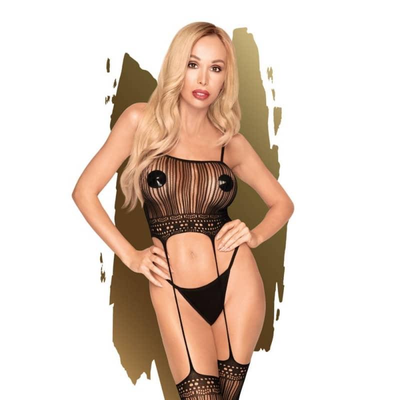 Еротично секси дамско боди с чорапи Penthouse Sex Dealer S-L Two-in-one bodystocking цена с дискретна доставка от Sex Shop Erotika