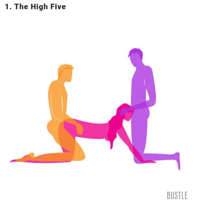 дай пет, секс тройка, секс тройка двама мъже, секс пози