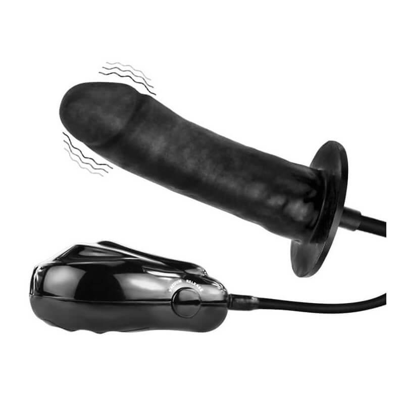 Надуваем пенис с вибрация и електрическа помпа Дилдо Bigger Joy Inflatable Vibrating Dong код: 2249 цена с дискретна доставка и опаковка от Секс Шоп Еротика