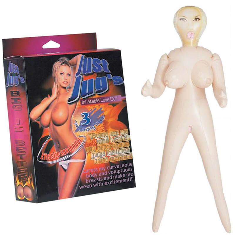Надуваема секс кукла Just Jug's с 3 отвора код: 2112 цена с дискретна доставка