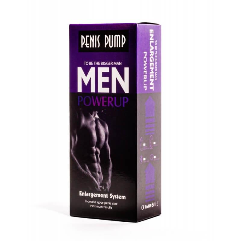 Помпа за уголемяване на пенис и ерекция Manual Penis Pump Men PowerUP Enlargment System код: 2183 цена с дискретна доставка и опаковка от Секс Шоп Еротика
