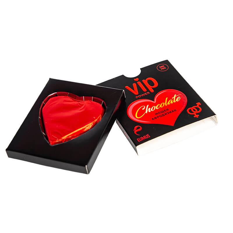 Шоколадово Сърце VIP Power Chokolate за възбуждане на Жени и Мъже хранителна добавка на билкова основа - вкусен мощен афродизиак за сексуална мощ код: 1887