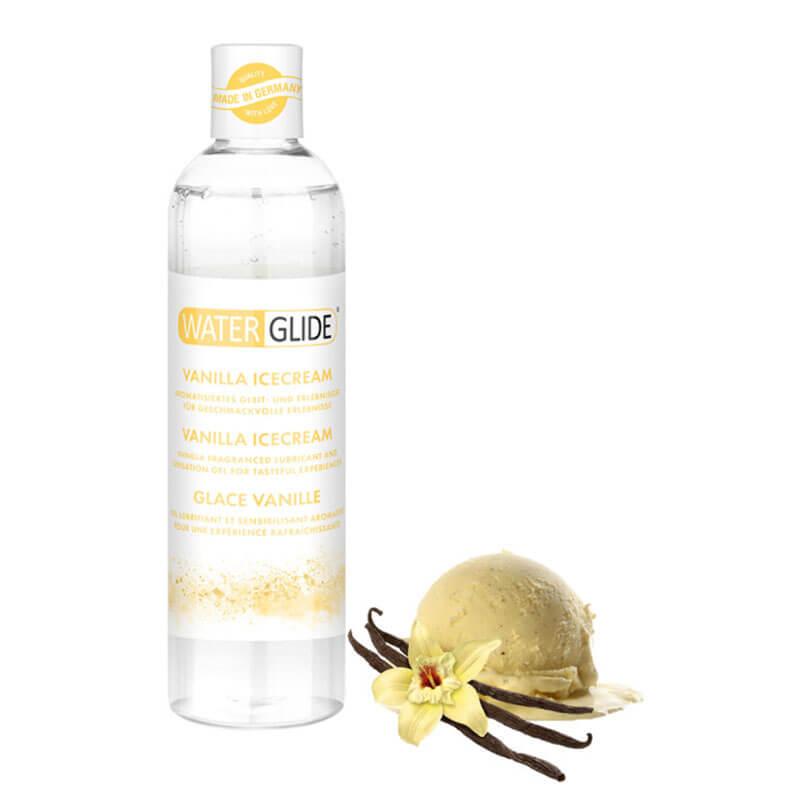 WaterGlide Vanilla Icecream е лубрикант на водна основа със сладък аромат на ванилов сладолед за всички почитатели на сладкото изкушение. Подходящ за използване със секс играчки, презервативи, за анален секс, вагинален секс и орален секс.