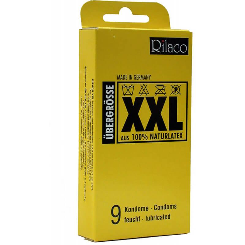 Презервативи XXL Rilaco Кутия с 9 броя големи презервативи от Секс Шоп Еротика